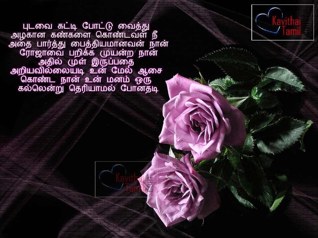love quote in tamil language with pink roses