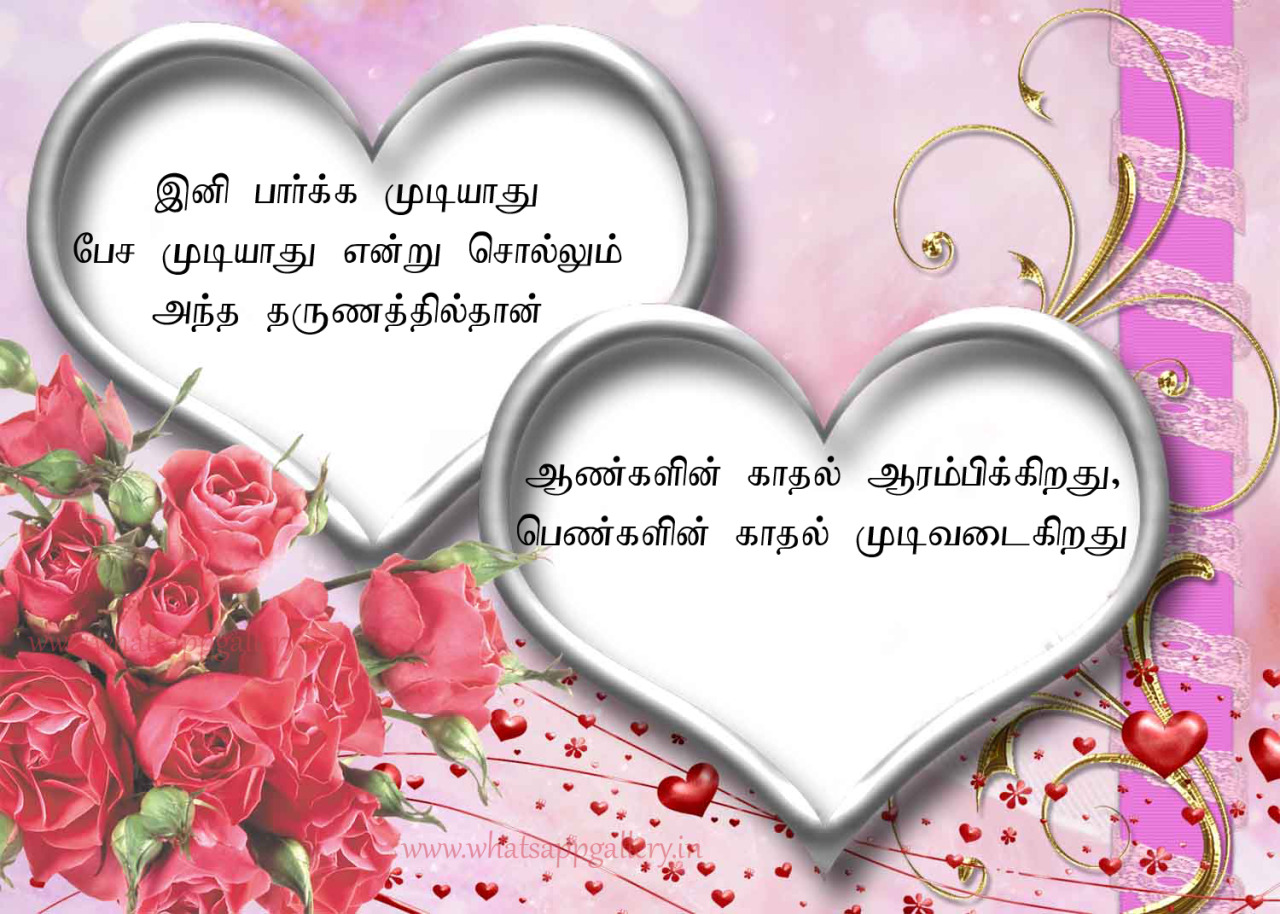 awesome tamil love quote