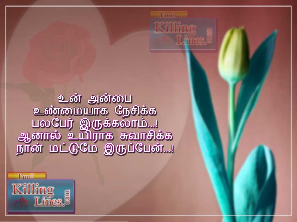 Best kadhal Natpu kavithai picture for facebook