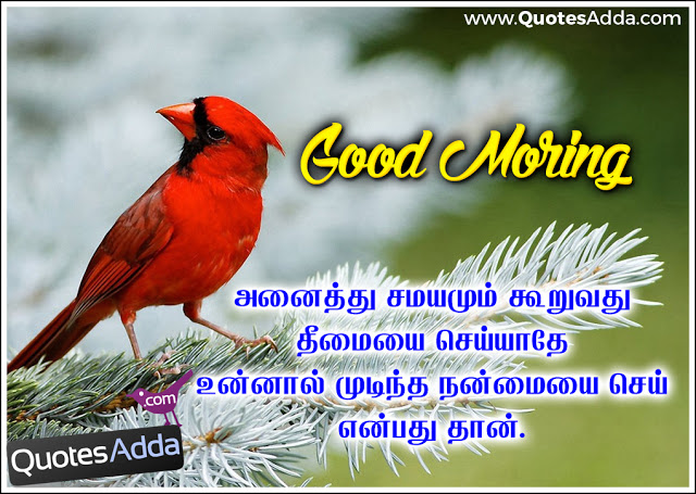 Tamil kavithai good morning hd image with quote